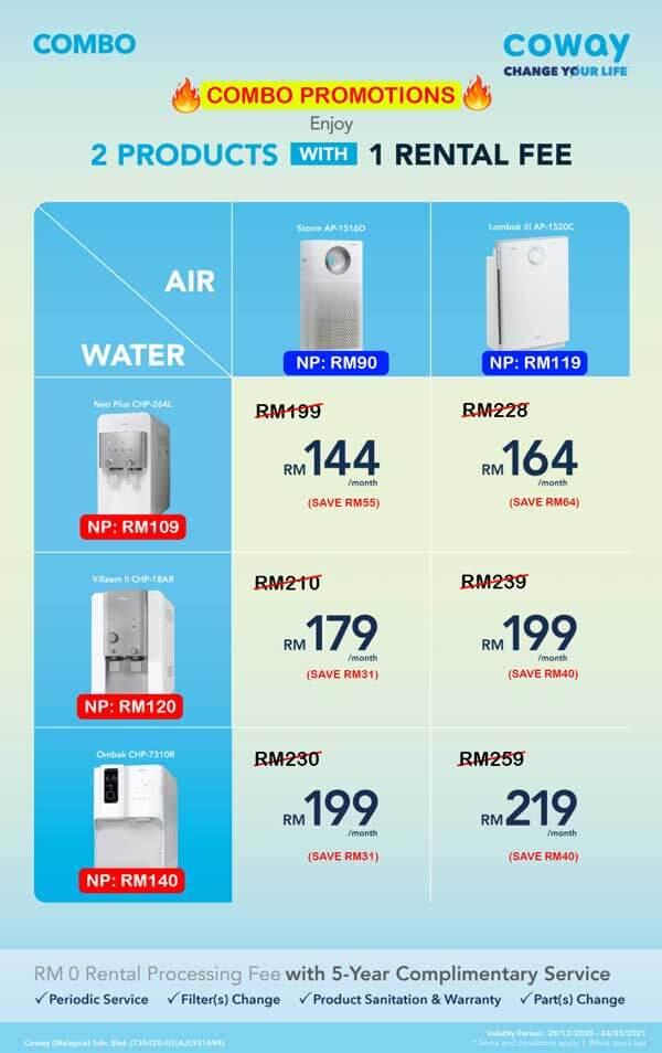Promo Penapis (Air + Udara)